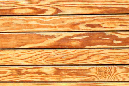 Background of wooden boards planed, horizontal, fresh.