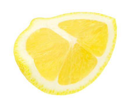 Lemon cut quarter isolated on white background 版權商用圖片