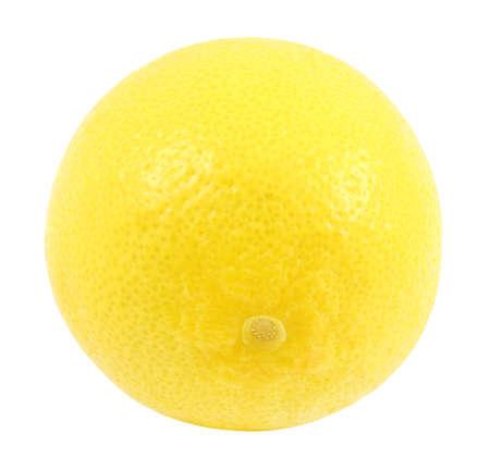 Lemon fruit yellow whole one  isolated on white background 版權商用圖片