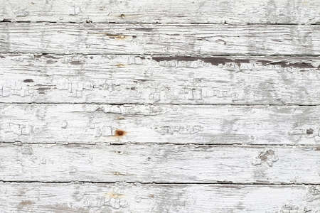 Background the painted surface of the old white peeling paint wooden gorizontal Reklamní fotografie