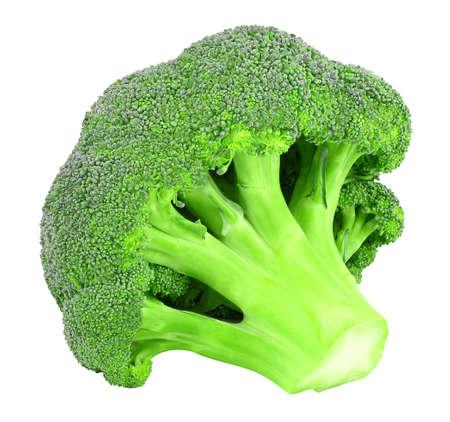 Broccoli bud fresh vegetable isolated on white background