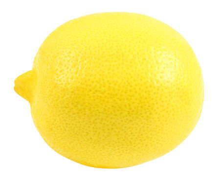 Lemon whole one yellow  isolated on white background