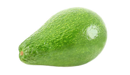 Avocado whole, one isolated on a white background, element of packaging design. Foto de archivo