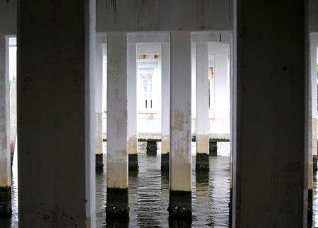 Waterway Under a Bridge