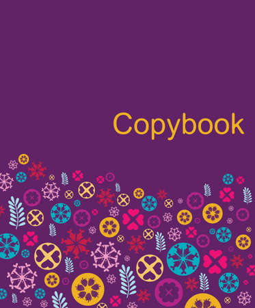 copybook: Copybook cover made of pattern
