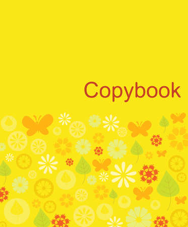 Cover design of natural patterns in shades of yellow Vector