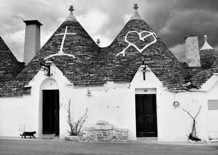 Unique Trulli houses of Alberobello, Puglia region, Italy. 版權商用圖片