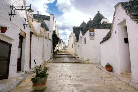 Maisons trulli uniques d'Alberobello, région des Pouilles, Italie.