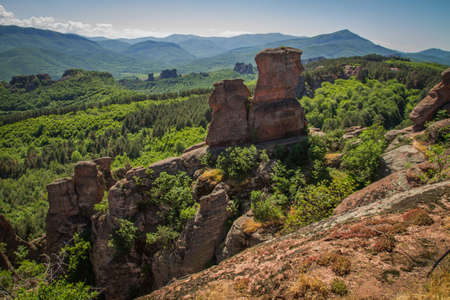 The main entrance to the famous Belogradchik fortress in Bulgaria  写真素材