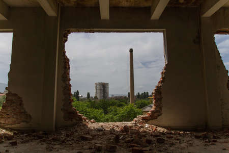 industrial ruins: Dark Mood, Psychological Distress, Mental Illness and Addiction - themed Stock Video footage. For more please take a look at out profile.