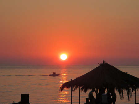 seaa: sunset over the sea in Italy