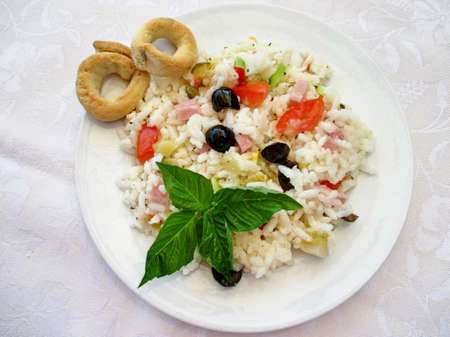 cold: plate with cold rice