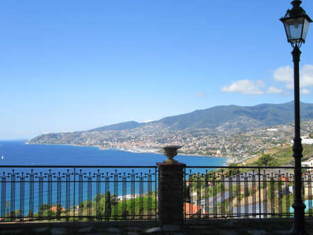 sanremo: view from the hill of Sanremo - Italy