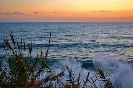 mare agitato: rough sea at sunset