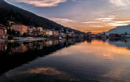 internationally: Sunset at the Lake Lugano, Porto Ceresio