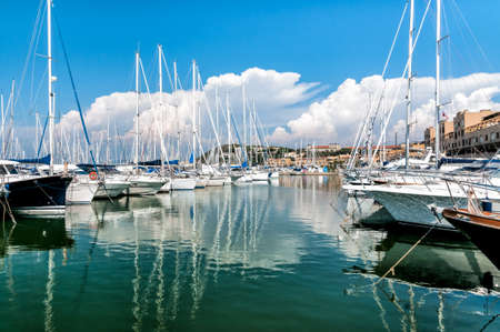 The small harbor of Punta Ala in the Tuscany