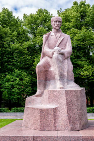 national poet: Monument to National Poet Rainis, Riga, Latvia  Editorial
