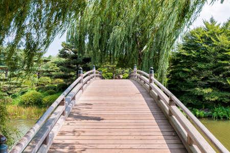 brige: Chicago Botanic Garden, bridge in the Japanese Garden area
