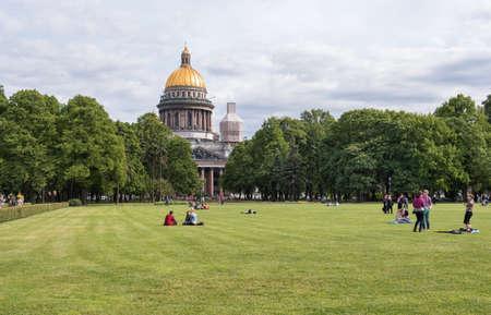 sobor: Garden of Saint Isaacs Cathedral Isaakievsky Sobor, Sankt Peteurg