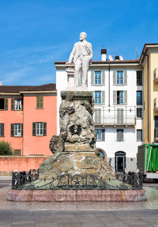 mario: Monument of Mario Cermenati in Lecco, Italy