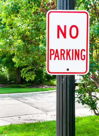 no fires: No parking sign Stock Photo