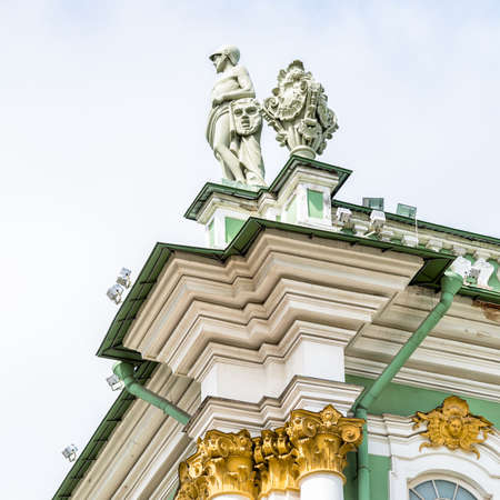 hermitage: Detail of facade of the State Hermitage Museum, Saint Petersburg Editorial