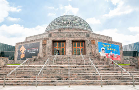astrophysics: CHICAGO, UNITED STATES - AUGUST 25, 2014: Adler Planetarium is a public museum dedicated to the study of astronomy and astrophysics.  It is located at the shore of Lake Michigan in Chicago, Illinois. Editorial