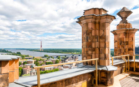 sciences: Riga, Latvia, cityscape from the terrace of Academy of Sciences Stock Photo
