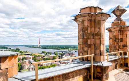 riga: Riga, Latvia, cityscape from the terrace of Academy of Sciences Stock Photo