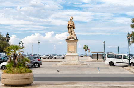 Victor Emmanuel II Monument in the square of Trapani, Italy