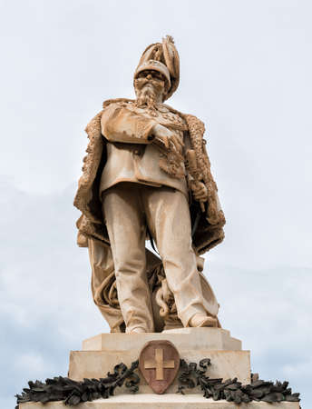 Victor Emmanuel II Monument in Trapani, Italy