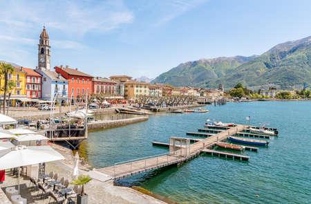 natures: Ascona on the shore of Lake Maggiore, Ticino, Switzerland.