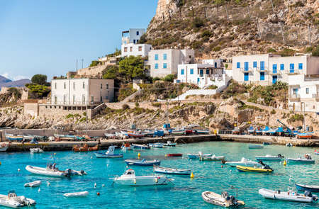 Levanzo island in the Mediterranean sea west of Sicily, Italy