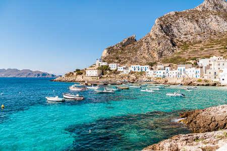 Levanzo eiland in de Middellandse Zee ten westen van Sicilië, Italië Stockfoto