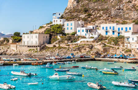 levanzo: Levanzo island in the Mediterranean sea west of Sicily, Trapani, Italy Stock Photo
