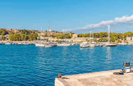 San Vito Lo Capo harbor, north-western Sicily, Italy