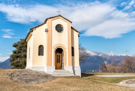 San Rocco Church in Campagnano, Maccagno with Pino and Veddasca, Luino, Italy Stock Photo