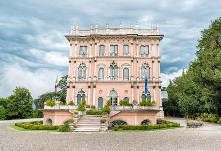 Villa Andrea Ponti nestled in a park of rare trees of Varese, Italy Stock Photo