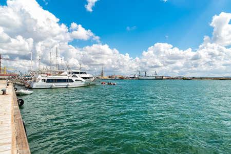 Harbor view of Trapani, Sicily. Italy.