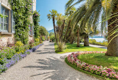 Park garden of Mother Island - Isola Madre, is one of the Borromean Islands of lake Maggiore Piedmont of north Italy