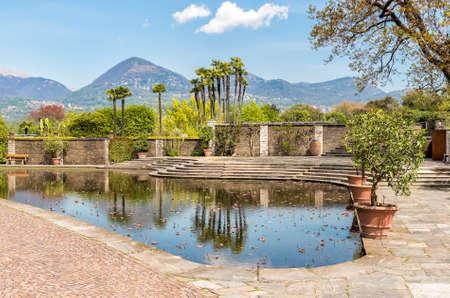 Botanical Gardens of Villa Taranto, located on the shore of Lake Maggiore in Pallanza, Verbania, Italy. Stock Photo