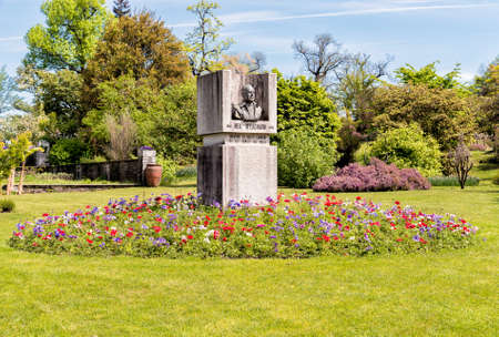 Botanical Gardens of Villa Taranto, Monument to Neil McEacharn, creator of These gardens and donated to Italy.