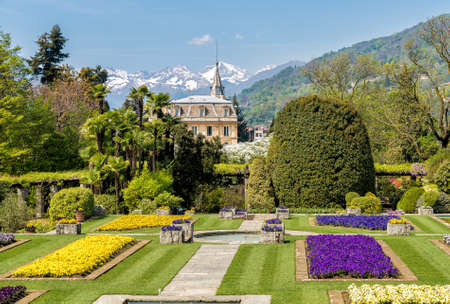 Botanical Gardens of Villa Taranto, located on the shore of Lake Maggiore in Pallanza, Verbania, Italy. Фото со стока