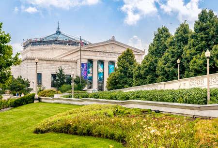Chicago, Illinois, USA - August 25, 2014: Shedd Aquarium is an indoor public aquarium in Chicago. 版權商用圖片 - 80800079