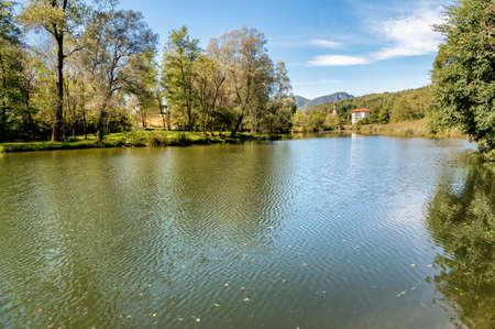 Lake Brinzio in Valey Rasa, province of Varese, Italy.