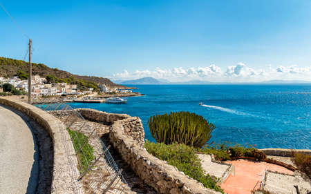 View of Mediterranean sea from Levanzo island in Sicily, Italy Stock Photo