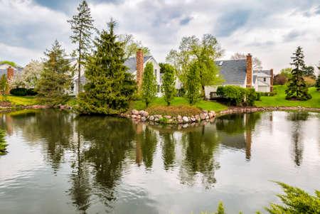 Landscape of Village of Northbrook, Illinois, USA Stock Photo