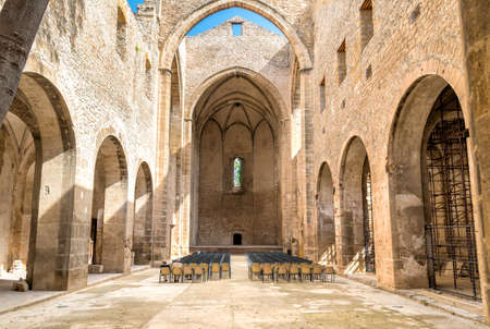 Santa Maria del Spasimo Unfinished Church, is located in the Kalsa district, one of the oldest parts of Palermo, Sicily, Italy