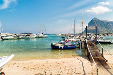 San Vito Lo Capo, Trapani, Italy - September 16, 2016: Fisher boats and yachts in the harbor of San Vito Lo Capo.