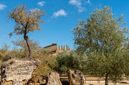 Archaeological Park of the Valley of the Temples in Agrigento, Sicily, Italy Stock Photo